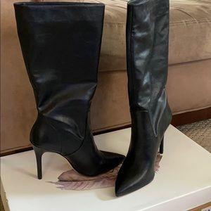 4inch heel black boot